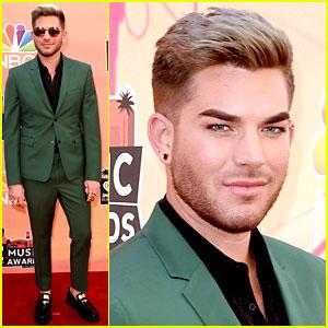 Adam Lambert Shows Off His Blonde Hair at iHeartRadio Music Awards 2014!