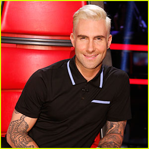 adam levine flaunts his new bleached blonde hair on �the