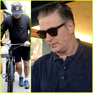 Alec Baldwin Walks His Bicycle Back Home After Arrest for Biking the Wrong Way