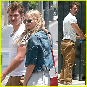 Alex Pettyfer Looks So Happy to Unlock His Apartment Door for Girl Marloes Horst!