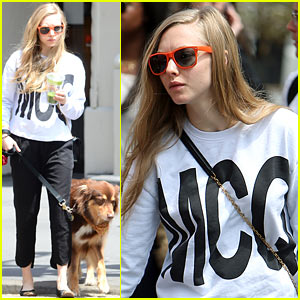 Amanda Seyfried is All About Alexander McQueen on Her Dog Walk!