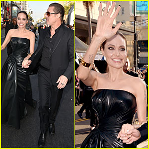 Angelina Jolie is Brad Pitt's 'Maleficent' at Hollywood Premiere!