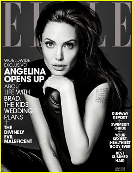 Angelina Jolie Discusses 'Real, Deep' Relationship with Brad Pitt & Casting Her Kids in 'Maleficent' to 'Elle'