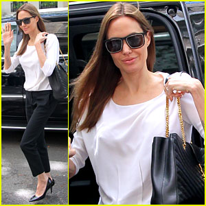 Angelina Jolie Heads to a Business Meeting in New York City