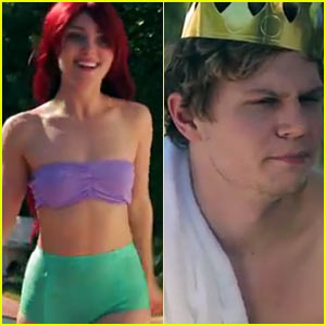 AnnaSophia Robb & Evan Peters Are Ariel & Prince Eric in Funny or Die's 'Little Mermaid'!