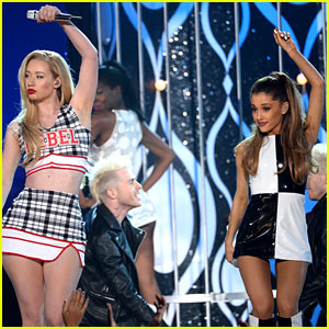 Ariana Grande Joins Iggy Azalea On Stage for 'Problem' After 'Fancy' Performance at Billboard Music Awards 2014 (Video)