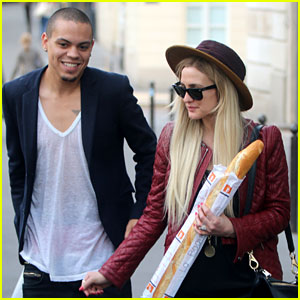 Ashlee Simpson Joins Fiance Evan Ross in Paris for 'Mockingjay' Filming!