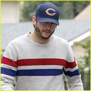 Ashton Kutcher Takes His Dogs For a Walk Without Mila Kunis!