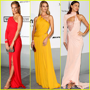 Bar Refaeli & Rosie Huntington-Whiteley Are Beauties at the Cannes amfAR Gala 2014