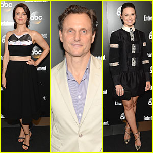 Bellamy Young & Tony Goldwyn Bring 'Scandal' to ABC Upfront Party!