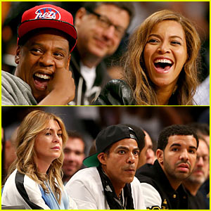 Beyonce & Jay-Z Root For Brooklyn Nets, Drake Cheers on Raptors