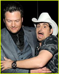 Brad Paisley Wants to Kick Blake Shelton 'In the Nuts'