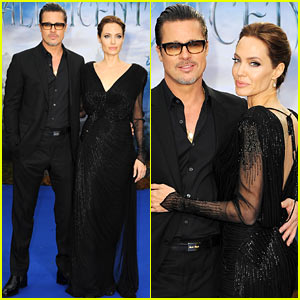 Brad Pitt Holds Angelina Jolie Close at 'Maleficent' Private Reception Gala!