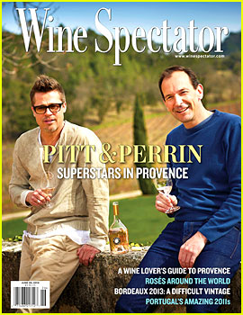 Brad Pitt Calls Himself a Farmer, Covers 'Wine Spectator' Mag