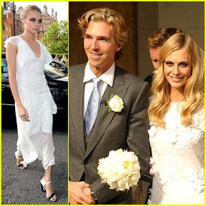 Cara Delevingne Makes a Beautiful Bridesmaid at Sister Poppy's Wedding!