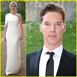 Cate Blanchett & Benedict Cumberbatch Dress Up for Royal Dinner with Prince William!