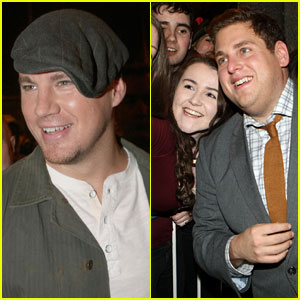 Channing Tatum & Jonah Hill Take Silly Selfies with Fans!