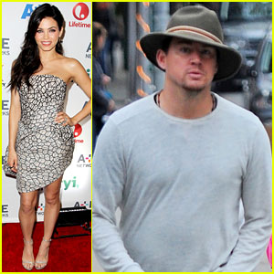 Channing Tatum Hangs Out in New York, Jenna Dewan Attends A&E Upfronts