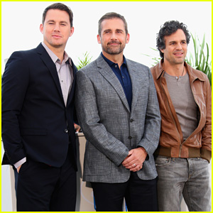 Channing Tatum Makes Fantastic Trio with Steve Carell & Mark Ruffalo at Cannes 'Foxcatcher' Photo Call!