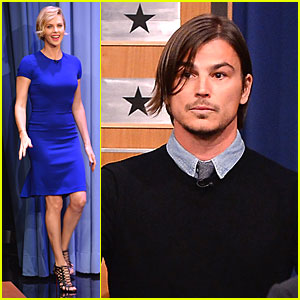 Charlize Theron & Josh Hartnett Show Competitive Side For Charades on 'Tonight Show'!