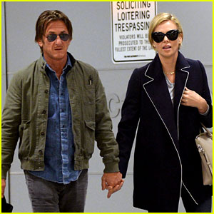 Charlize Theron & Sean Penn Hold Hands Upon New York Arrival