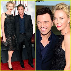 Charlize Theron Takes Boyfriend Sean Penn to 'Million Ways to Die in the West' Premiere!