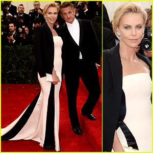 Charlize Theron & Sean Penn Walk Met Ball 2014 Red Carpet Together