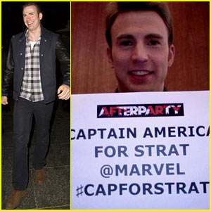 Chris Evans Participates in #CapForStrat Campaign, Helps Dying Man Get His Wish