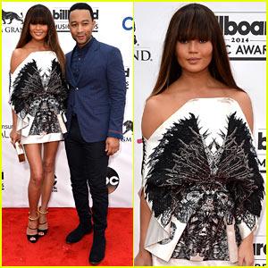 Chrissy Teigen Debuts Blunt Bangs at the Billboard Music Awards 2014