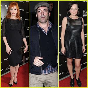 Christina Hendricks Gets 'Mad Men' Support at 'God's Pocket' Premiere!