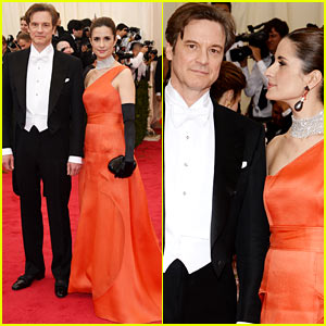 Colin Firth's Wife Livia Looks Lovingly at Her Hubby at the Met Ball 2014!