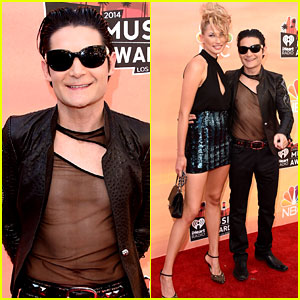 Corey Feldman Wears Completely See-Through Shirt at iHeartRadio Music Awards 2014