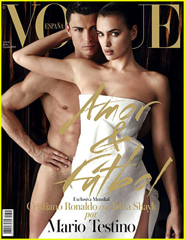 Cristiano Ronaldo Goes Naked Behind Girlfriend Irina Shayk for 'Vogue Espana' June 2014!