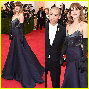 Dakota Johnson Makes Jason Wu Proud at Met Ball 2014