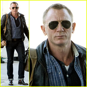 Daniel Craig Keeps It Cool in Shades for NYC Departure