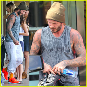 David Beckham Bares His Arms After a Soul Cycle Workout