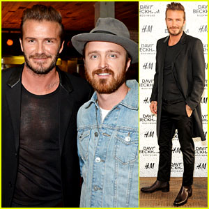 David Beckham Wears See-Through Top to His Swimwear Launch Event!