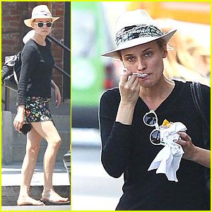 Diane Kruger Can Even Make Eating Yogurt Look Stylish!