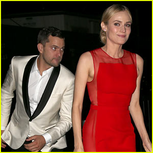 Diane Kruger Goes Red Hot for Met Ball 2014 After Party with Joshua Jackson!