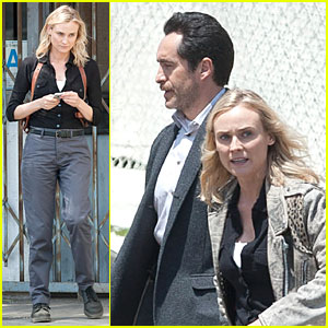 Diane Kruger Sports Suspenders to Shoot 'The Bridge' Season 2!