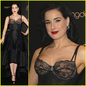 080c0d79047 Dita Von Teese Shows Off New Lingerie Line at Bloomingdale s Launch ...