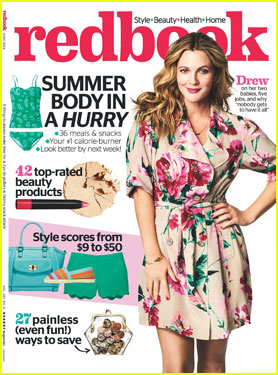 Drew Barrymore Looks Ready for Spring on 'Redbook' Magazine Cover!