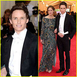 Eddie Redmayne Looks Super Dashing with Girlfriend Hannah Bagshawe at Met Ball 2014