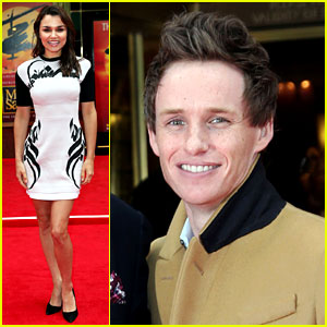 Eddie Redmayne & Samantha Barks: 'Les Miserables' Reunion at 'Miss Saigon' Opening Night!