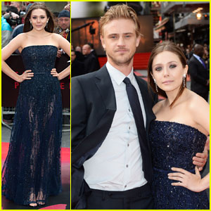 Elizabeth Olsen & Boyd Holbrook Couple Up at 'Godzilla' London Premiere!