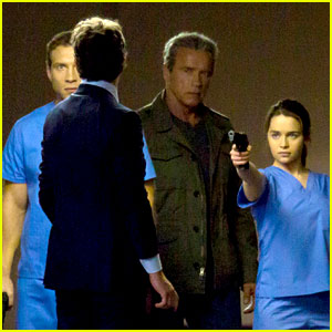 Emilia Clarke is Super Fierce on 'Terminator: Genesis' Set!