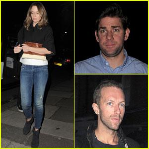 Emily Blunt & John Krasinski Hit the Town with Chris Martin & Jeremy Renner!