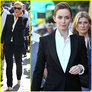 Emily Blunt & Cate Blanchett Film a Watch Commercial in Italy