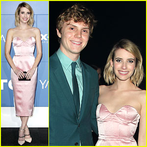 Emma Roberts Supports Evan Peters at 'X-Men' World Premiere!