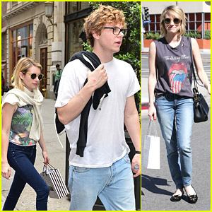 Emma Roberts Shops Henri Bendel Before West Hollywood Hair Appointment